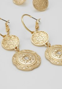 Miss Selfridge - DOUBLE COIN 2 PACK - Earrings - gold-coloured - 4