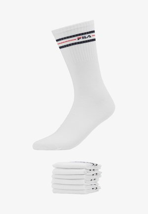 LIFESTYLE PLAIN SOCKS 6 PACK - Calcetines - white