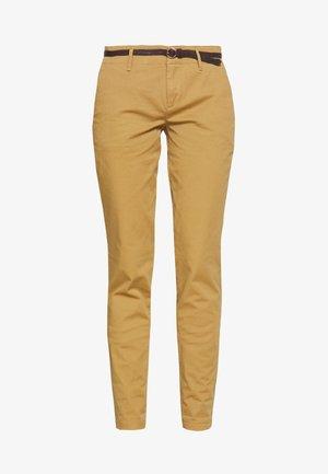 WITH BELT - Chino kalhoty - camel