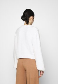 Nly by Nelly - CROPPED FUZZY  - Cardigan - white - 2