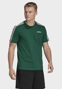 adidas Performance - ESSENTIALS 3-STRIPES T-SHIRT - T-shirts print - green - 3