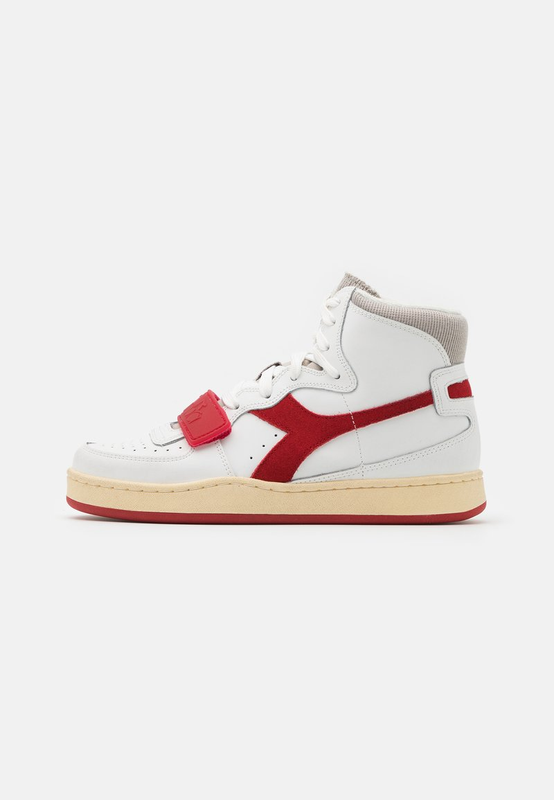 Diadora - MI BASKET USED UNISEX - Zapatillas altas - white/dark red
