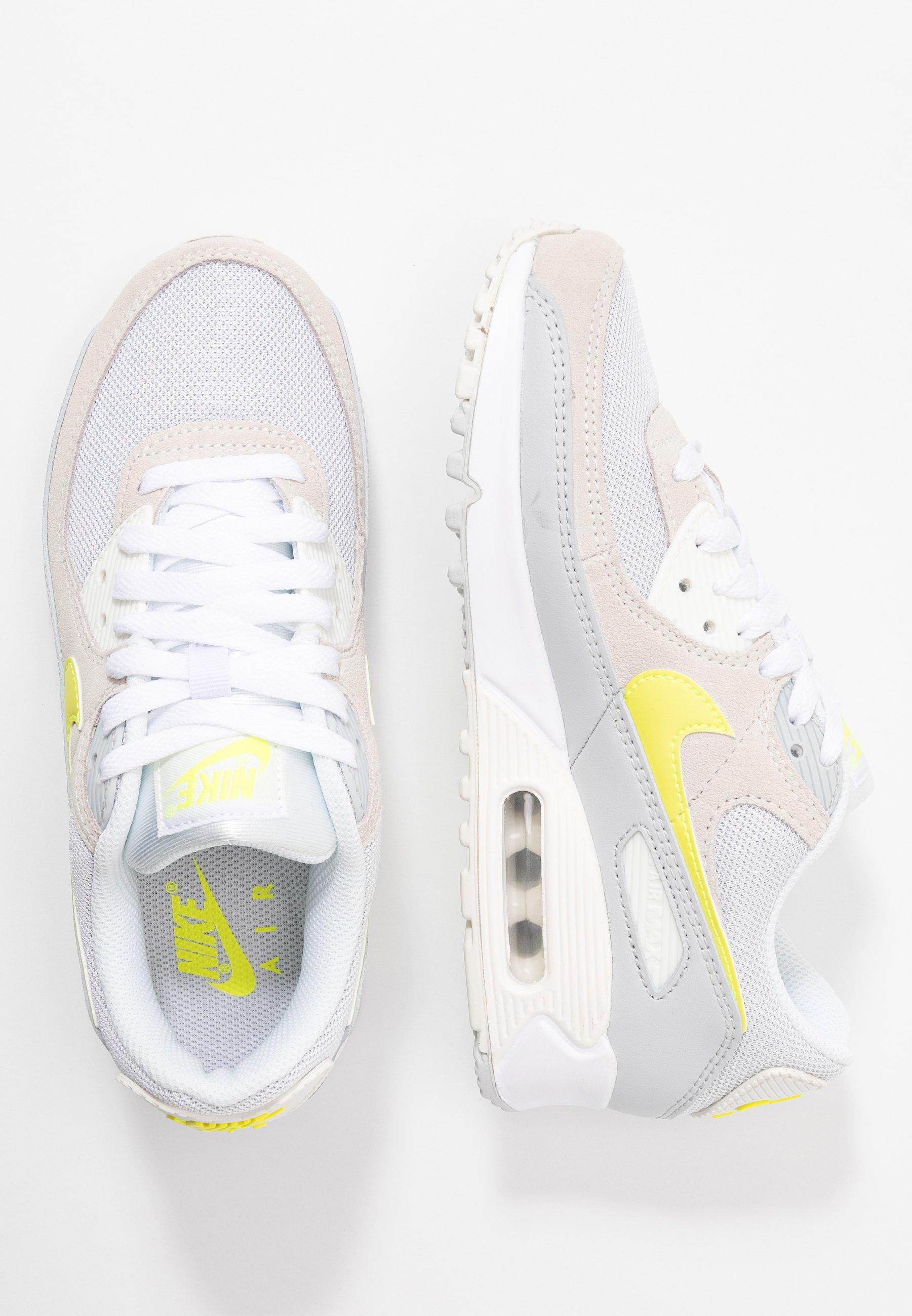 Nike Sportswear AIR MAX 90 Sneaker low white/lemon/pure platinum/sail/weiß