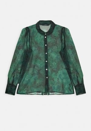 VMERIKI - Button-down blouse - black/eriki pine grove