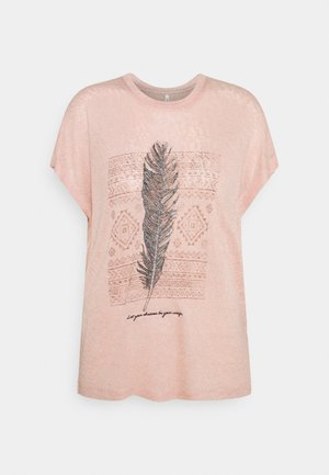 ONLPIPER - Camiseta estampada - misty rose