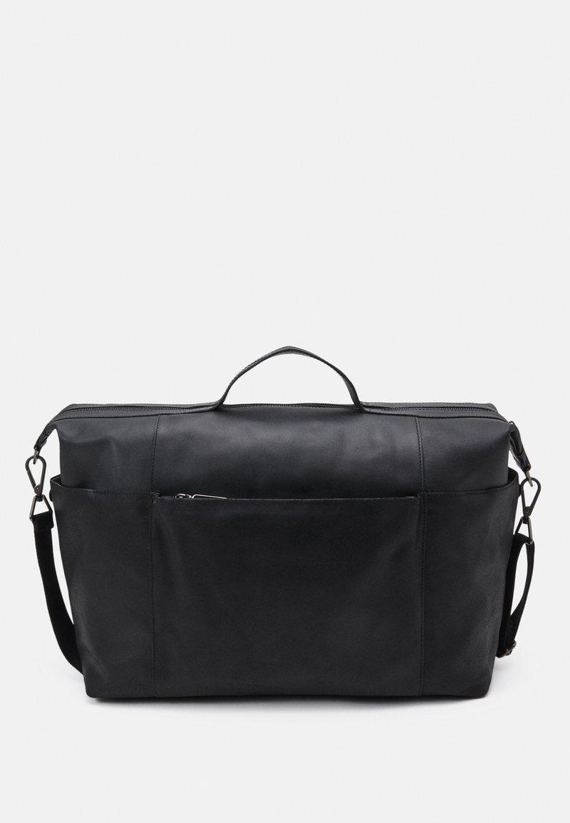 Zign - LEATHER UNISEX - Weekend bag - black