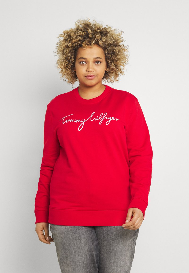 Tommy Hilfiger Curve - GRAPHIC - Sweatshirt - red