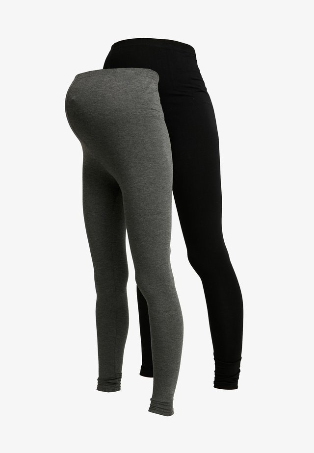 2 PACK - Leggings - Trousers - grey