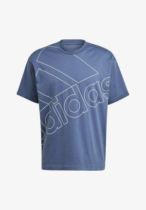 Print T-shirt - crew blue/white