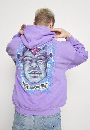 MIND CONTROL GRAPHIC HOODIE WASHED - Sweatshirt - lilac