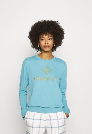COLOR LOCK UP CNECK  - Mikina - seafoam blue