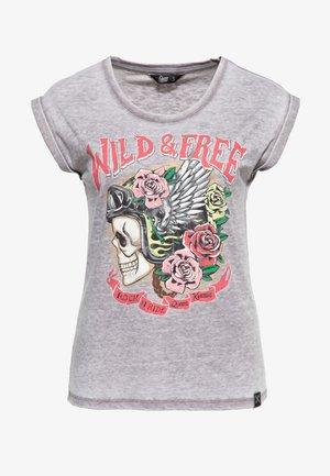 WILD FREE - Print T-shirt - schwarz