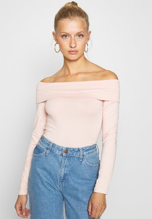 VMPANDA OFF SHOULDER - Long sleeved top - sepia rose