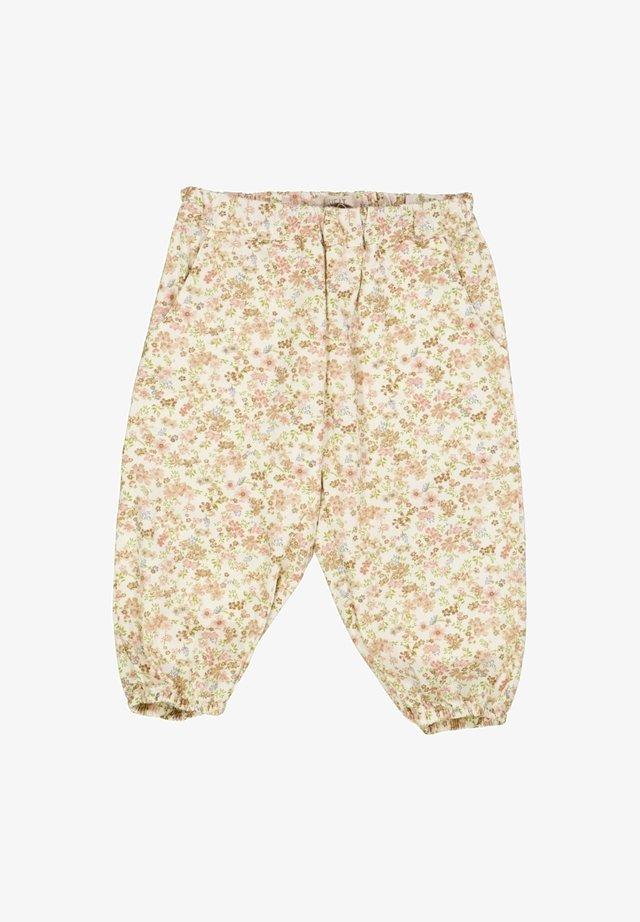 MALOU - Trousers - eggshell flowers