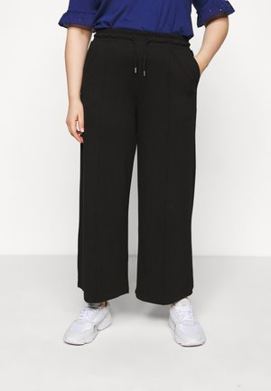 SLFDODY WIDE ANKLE PANT - Trousers - black