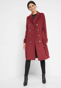 ORSAY - MIT BINDEGÜRTEL - Classic coat - weinrot - 1