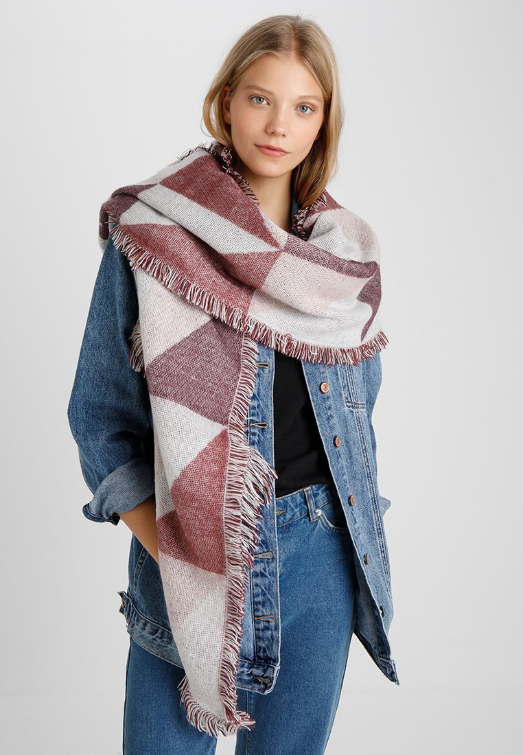 Even&Odd - Scarf - nude/bordeaux