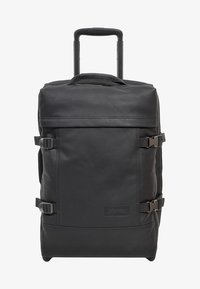 Eastpak - TRANVERZ S LEATHER REISEGEPÄCK - Trolleyväska - black ink - 2