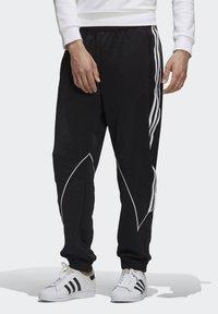 adidas Originals - BIG TREFOIL ABSTRACT POLYESTER TRACKSUIT BOTTOM - Tracksuit bottoms - black - 0