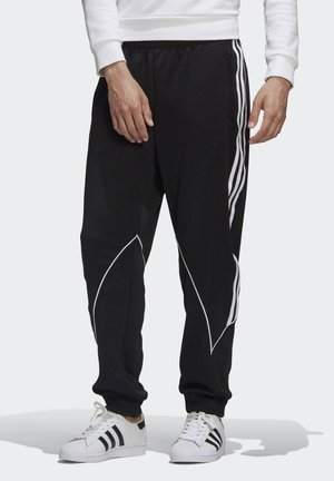 BIG TREFOIL ABSTRACT POLYESTER TRACKSUIT BOTTOM - Tracksuit bottoms - black