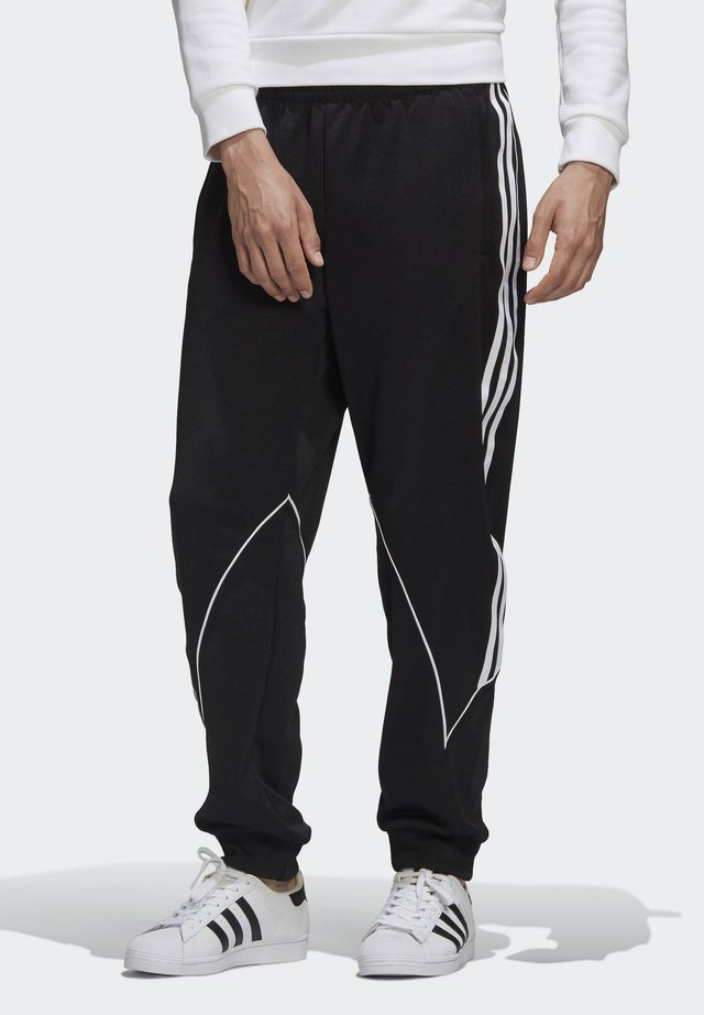 BIG TREFOIL ABSTRACT POLYESTER TRACKSUIT BOTTOM - Pantaloni sportivi - black