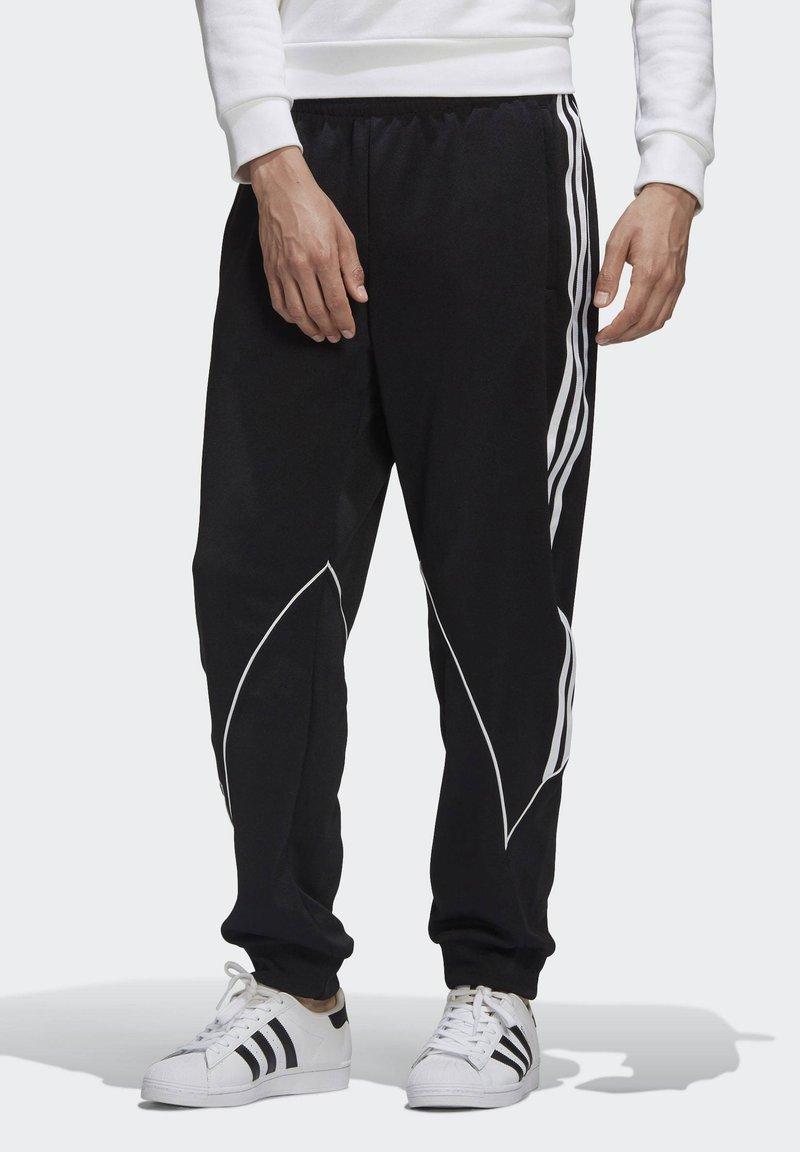 adidas Originals - BIG TREFOIL ABSTRACT POLYESTER TRACKSUIT BOTTOM - Tracksuit bottoms - black