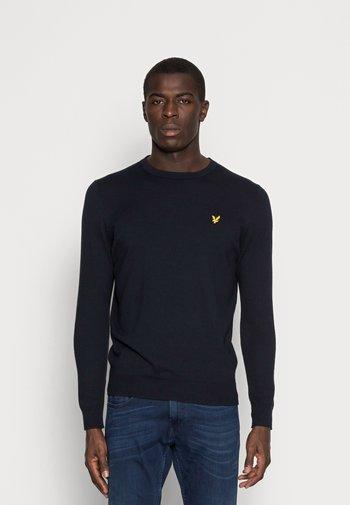 CREW NECK JUMPER - Stickad tröja - dark navy