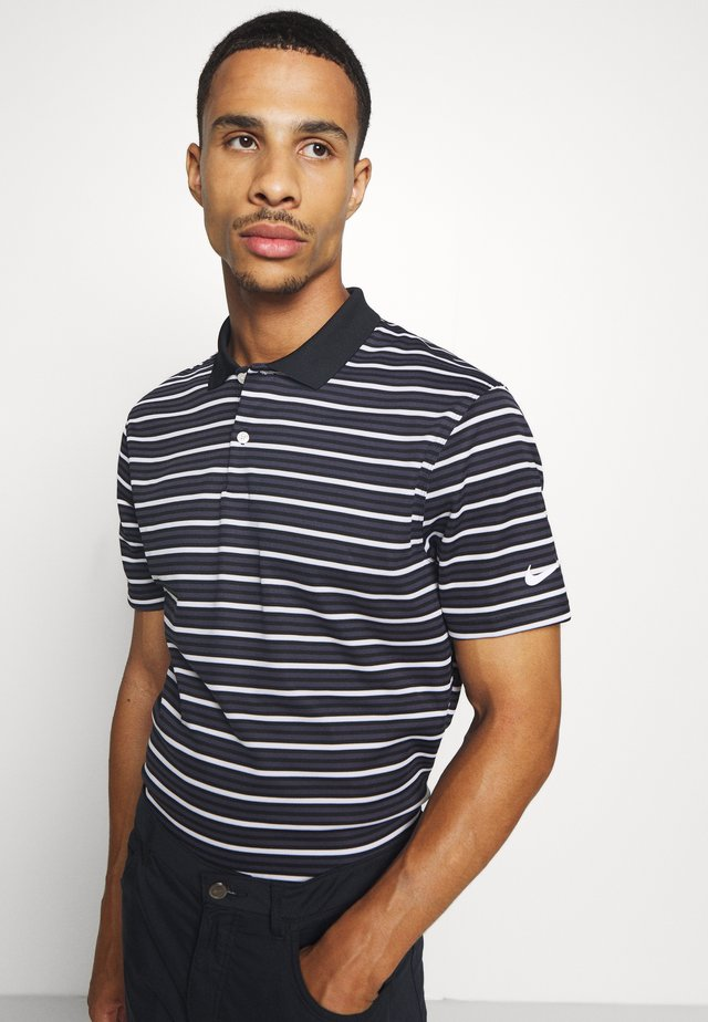 DRY VICTRY STRIPE - Sports shirt - black/gridiron/white/white