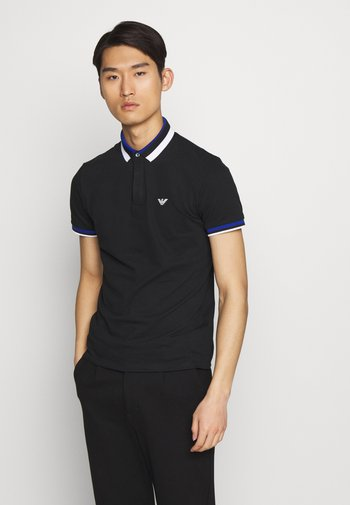 Polo shirt - black/blue