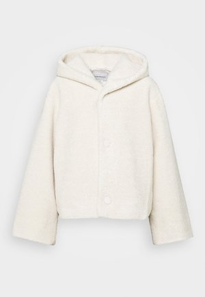 CROPPED TEDDY COAT - Winter jacket - ivory