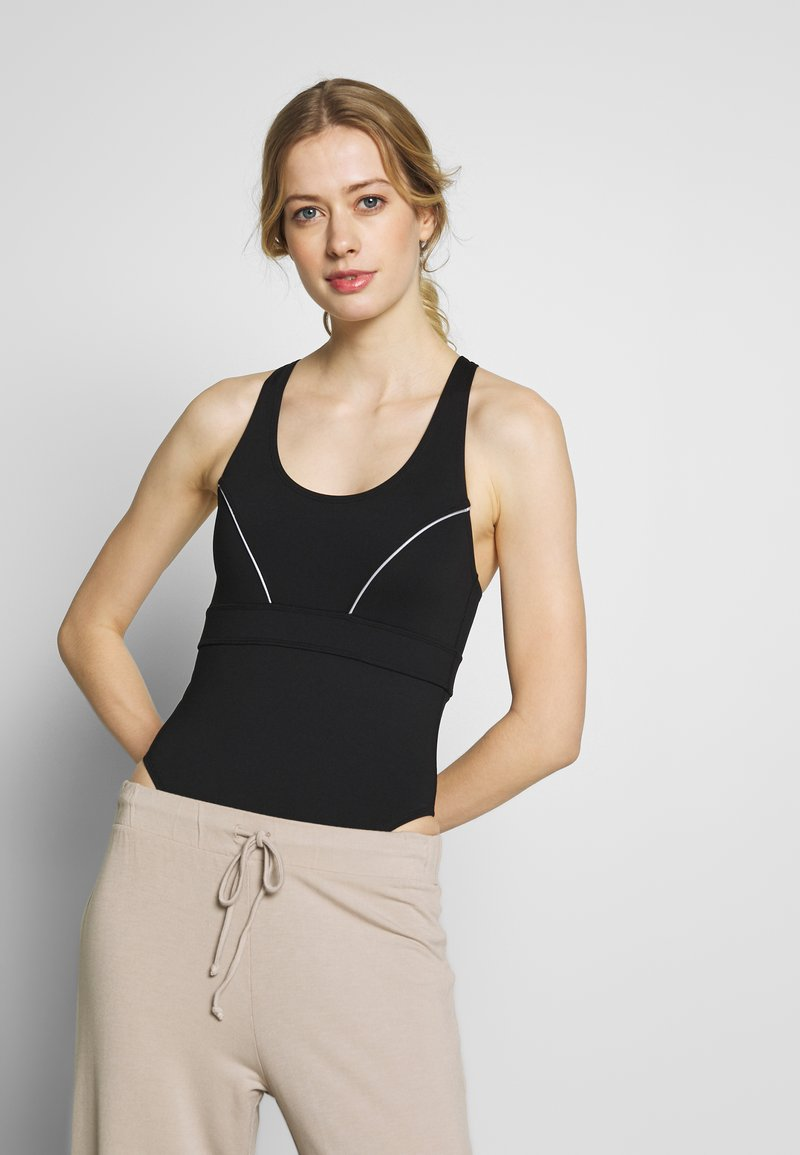 Wolf & Whistle - SPORTS BODY WITH REFLECTIVE STRIPS - Leotard - black
