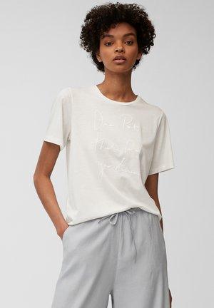 SHORT SLEEVE - Print T-shirt - multi cotton white
