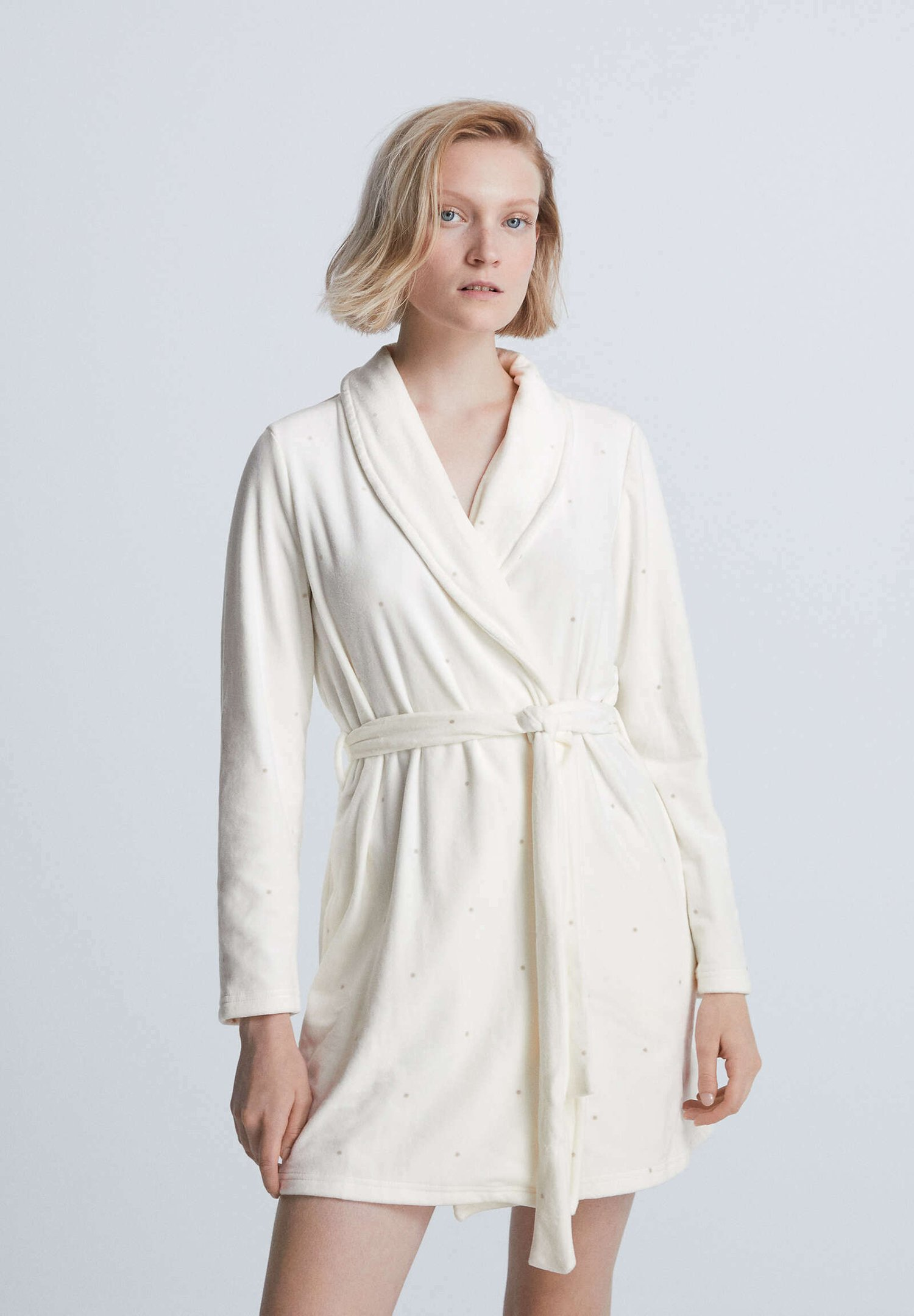 Donna POLKA DOT SOFT DRESSING GOWN  - Accappatoio