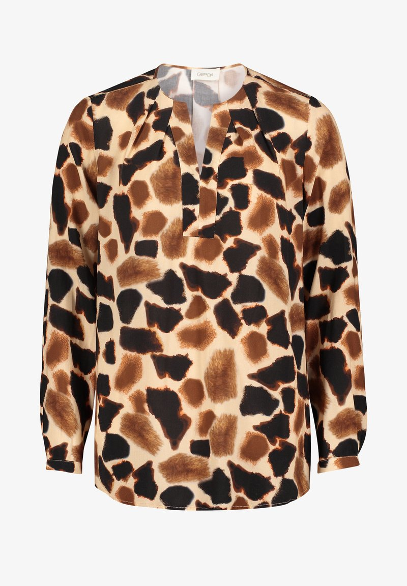 Cartoon - Blouse - camel/black