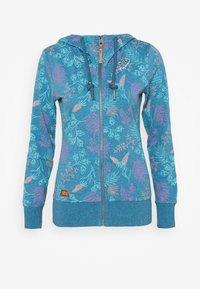 PAYA FLOWERS - Zip-up hoodie - blue