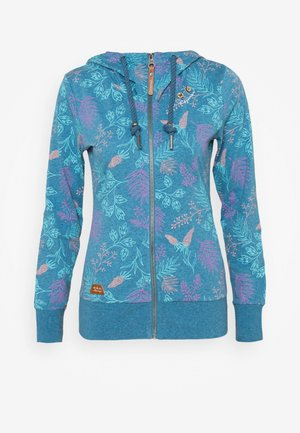 PAYA FLOWERS - Zip-up hoodie - blue