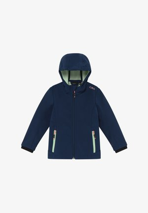GIRL FIX HOOD - Soft shell jacket - blue