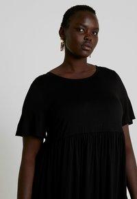 Simply Be - ANGLE SLEEVE SMOCK DRESS - Denní šaty - black - 4