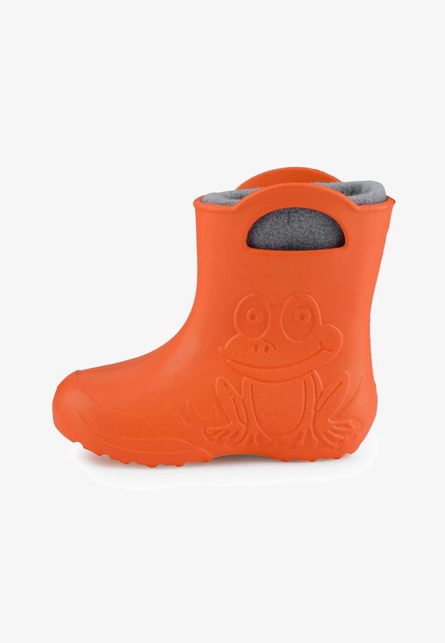 Regenlaarzen - orange/grey