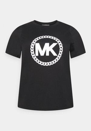 CHAIN PRINT LOGO - Camiseta estampada - black