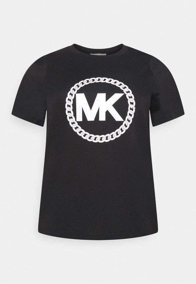 CHAIN PRINT LOGO - T-shirt imprimé - black