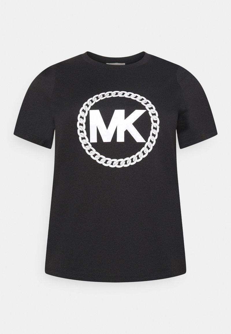 MICHAEL Michael Kors - CHAIN PRINT LOGO - Triko spotiskem - black
