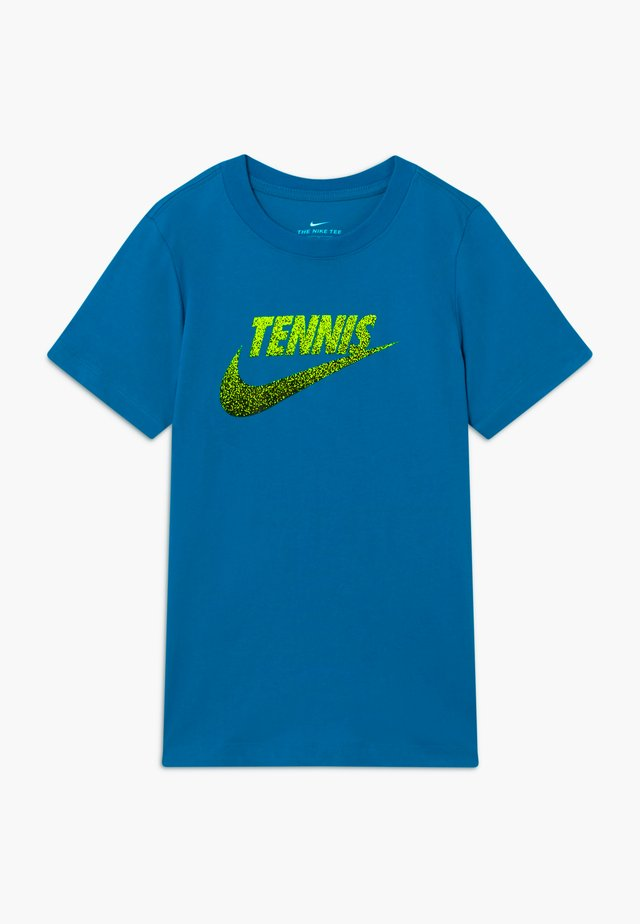 TENNIS GRAPHIC - T-shirt con stampa - neo turquoise/white/black