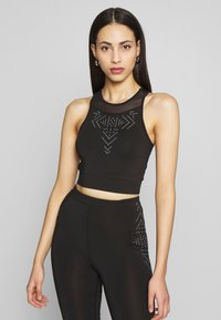 ONLY PLAY Tall - ONPFIONA CROPPED TRAINING TOP - Top - black - 0