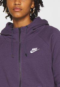 Nike Sportswear - Zip-up hoodie - dark raisin/white - 5
