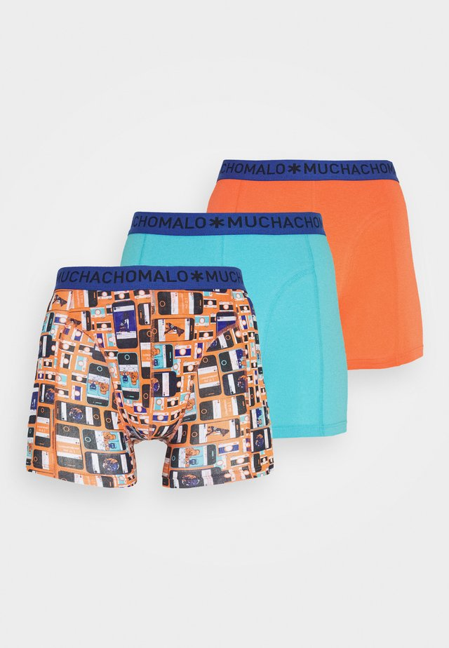 SOCIAL 3 PACK - Boxerky - blue/red