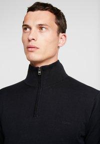 Esprit - HALF ZIP - Stickad tröja - black - 3