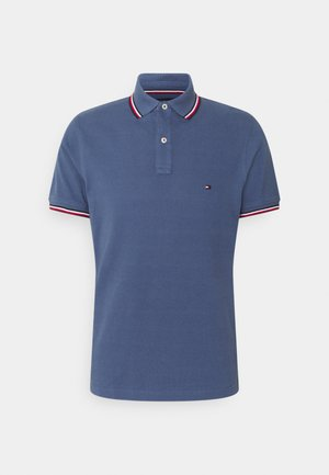 TIPPED SLIM - Polo shirt - faded indigo