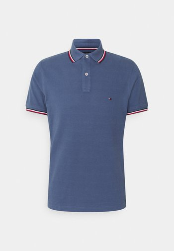 TIPPED SLIM - Polo shirt - faded indigo
