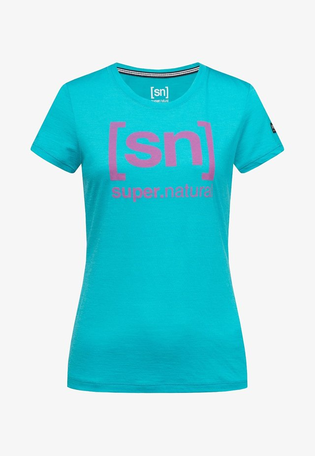 W ESSENTIAL  - Print T-shirt - turquoise